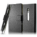 IMAK Slim leather Cases Luxury Holster Covers for Nokia Lumia 800 800c - Black
