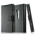 IMAK Slim leather Cases Luxury Holster Covers for Nokia Lumia 900 Hydra - Black