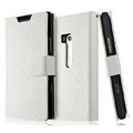 IMAK Slim leather Cases Luxury Holster Covers for Nokia Lumia 900 Hydra - White