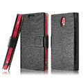 IMAK Slim leather Cases Luxury Holster Covers for Sony Ericsson LT22i Xperia P - Black