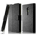 IMAK Slim leather Cases Luxury Holster Covers for Sony Ericsson LT28i Xperia ion - Black