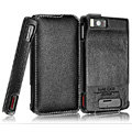 IMAK The Count leather Cases Luxury Holster Covers for Motorola MB810 Droid X - Black