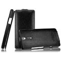 IMAK The Count leather Cases Luxury Holster Covers for Sony Ericsson LT26i Xperia S - Black