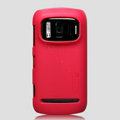 Nillkin Super Matte Hard Cases Skin Covers for Nokia 808 Pureview - Red