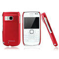 Nillkin Super Matte Hard Cases Skin Covers for Nokia E6 - Red