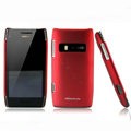 Nillkin Super Matte Hard Cases Skin Covers for Nokia X7 X7-00 - Red