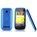 Nillkin Super Matte Rainbow Cases Skin Covers for Nokia 603 - Blue