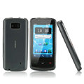 Nillkin Super Matte Rainbow Cases Skin Covers for Nokia 700 - Gray