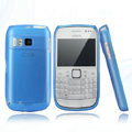 Nillkin Super Matte Rainbow Cases Skin Covers for Nokia E6 - Blue