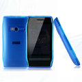 Nillkin Super Matte Rainbow Cases Skin Covers for Nokia X7 X7-00 - Blue