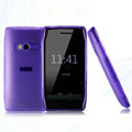 Nillkin Super Matte Rainbow Cases Skin Covers for Nokia X7 X7-00 - Purple