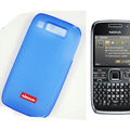 Nillkin Transparent Matte Soft Cases Covers for Nokia E72 - Blue