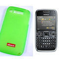 Nillkin Transparent Matte Soft Cases Covers for Nokia E72 - Green
