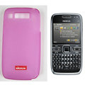Nillkin Transparent Matte Soft Cases Covers for Nokia E72 - Pink