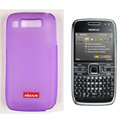 Nillkin Transparent Matte Soft Cases Covers for Nokia E72 - Purple