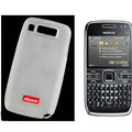 Nillkin Transparent Matte Soft Cases Covers for Nokia E72 - White