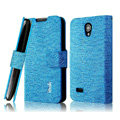 IMAK Slim leather Cases Luxury Holster Covers for Huawei C8825D U8825D G330D G330C - Blue
