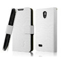 IMAK Slim leather Cases Luxury Holster Covers for Huawei C8825D U8825D G330D G330C - White