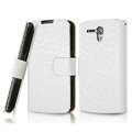 IMAK Slim leather Cases Luxury Holster Covers for Huawei U8818 Ascend G300 - White