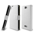IMAK Slim leather Cases Luxury Holster Covers for OPPO X905 Find 3 - White