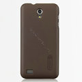 Nillkin Super Matte Hard Cases Skin Covers for Huawei S8600 Spark - Brown