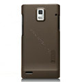 Nillkin Super Matte Hard Cases Skin Covers for Huawei U9200 Ascend P1 - Brown