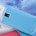 Nillkin Super Matte Rainbow Cases Skin Covers for Huawei U9500 Ascend D1 - Blue