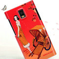 Nillkin Unique Hard Cases Skin Covers for Huawei U9200 Ascend P1 - Orange red