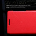 Nillkin leather Cases Holster Covers for Huawei U9200 Ascend P1 - Red