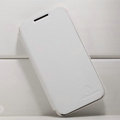 Nillkin leather Cases Holster Covers for Huawei U9500 Ascend D1 - White