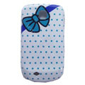 Bowknot Matte Hard Cases Covers for Samsung GALAXY Mini S5570 I559 - Blue