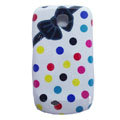 Bowknot Matte Hard Cases Covers for Samsung GALAXY Mini S5570 I559 - White