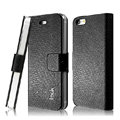 IMAK Slim leather Cases Luxury Holster Covers for iPhone 5 - Black