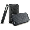 IMAK The Count leather Cases Luxury Holster Covers for iPhone 4G\4S - Black