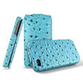 IMAK The Count leather Cases Luxury Holster Covers for iPhone 4G\4S - Blue