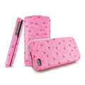 IMAK The Count leather Cases Luxury Holster Covers for iPhone 4G\4S - Rose