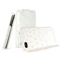 IMAK The Count leather Cases Luxury Holster Covers for iPhone 4G\4S - White