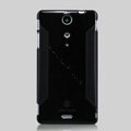 Nillkin Super Matte Rainbow Cases Skin Covers for Sony Ericsson LT29i Xperia Hayabusa Xperia GX/TX - Black