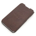 ROCK Side Flip leather Cases Holster Skin for Lenovo S880 - Coffee