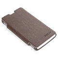 ROCK Side Flip leather Cases Holster Skin for Sony Ericsson LT29i Xperia Hayabusa Xperia GX/TX - Coffee