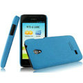 IMAK Cowboy Shell Quicksand Hard Cases Covers for Huawei C8825D U8825D G330D G330C - Blue