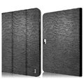 IMAK Slim leather Cases Luxury Holster Covers for Samsung N8000 GALAXY Note 10.1 - Black