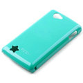 ROCK Colorful Glossy Cases Skin Covers for OPPO Real R803 - Blue