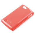 ROCK Colorful Glossy Cases Skin Covers for OPPO Real R803 - Red