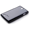 ROCK Colorful Glossy Cases Skin Covers for OPPO Real R807 - Black