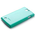 ROCK Colorful Glossy Cases Skin Covers for OPPO Real R807 - Blue
