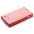 ROCK Colorful Glossy Cases Skin Covers for OPPO Real R807 - Red