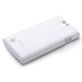 ROCK Colorful Glossy Cases Skin Covers for OPPO Real R807 - White