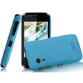 IMAK Cowboy Shell Quicksand Hard Cases Covers for Gionee C600 - Blue