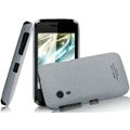IMAK Cowboy Shell Quicksand Hard Cases Covers for Gionee C600 - Gray